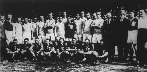 Az FTC és az MTK csapata (1921)